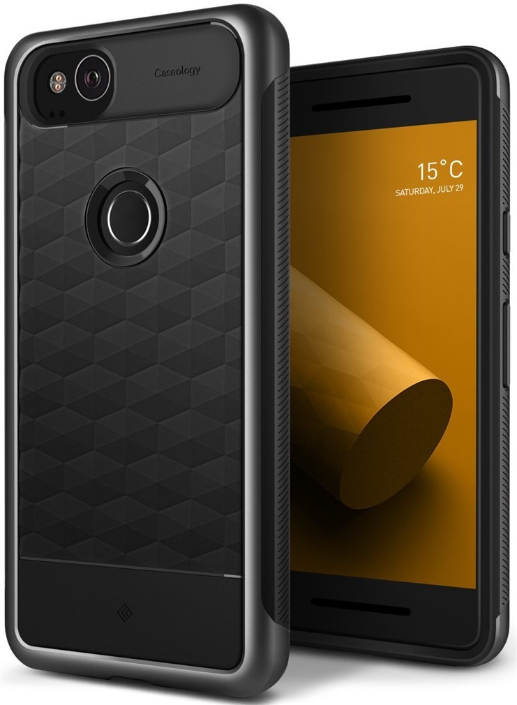 reputable site 5dfd3 818e0 Caseology Parallax Case for Google Pixel 2 - Charcoal Gray