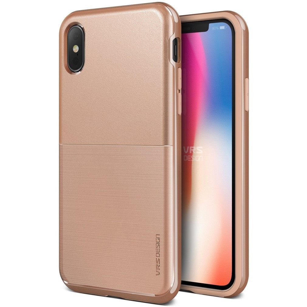 new arrival 04aae 802a7 VRS Design High Pro Shield Case for iPhone X - Brush Gold S