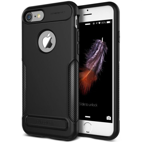 VRS Design NEW Carbon Fit Case for iPhone 7 - Black