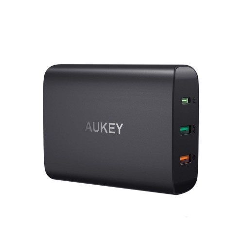 Aukey 3-Port PD & QC 3.0 Charger 74W