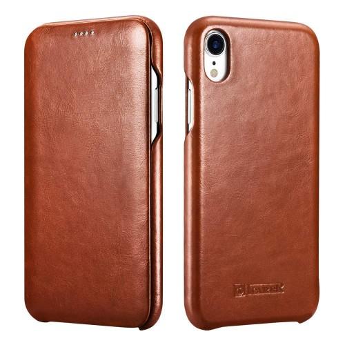iCarer Vintage Case for iPhone XR - Brown