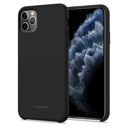 Spigen Silicone Fit Case for iPhone 11 Pro Max - Black