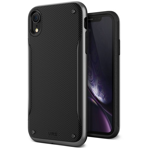 VRS Design High Pro Shield Case for iPhone XR - Steel Silver