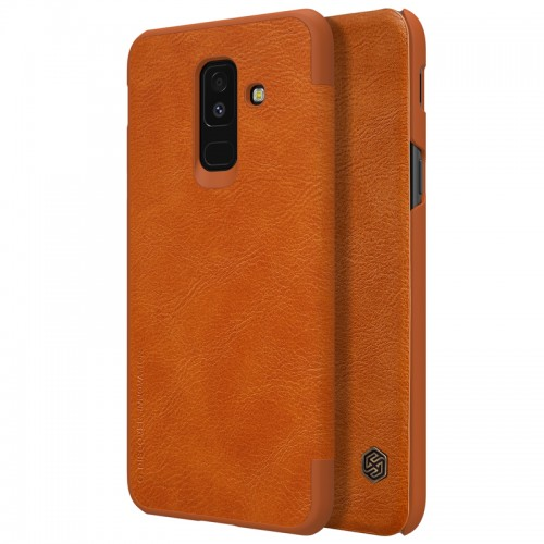 Nillkin Qin Leather Case for Samsung Galaxy A6 Plus 2018 - Brown