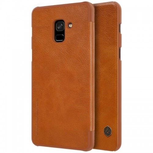 Nillkin Qin Leather Case for Samsung Galaxy A8 2018 - Brown