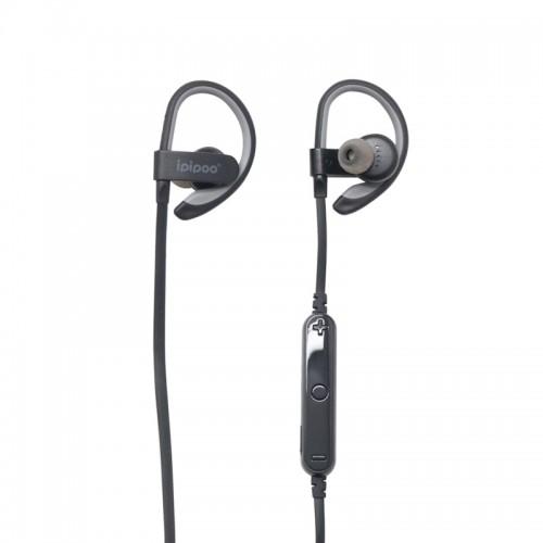 Ipipoo iL92BL Sport Wireless Bluetooth Earphone Earbuds - Gray