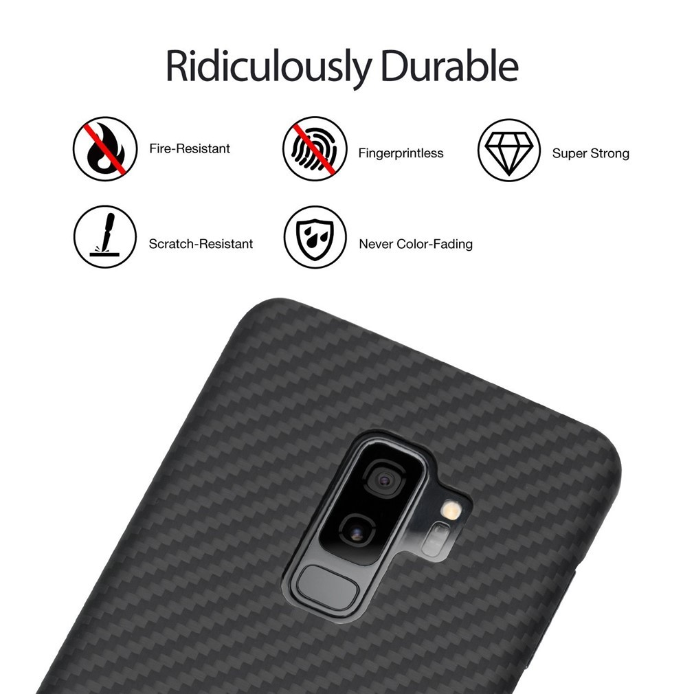 big sale 4f4e7 c4e27 Pitaka Case for Samsung Galaxy S9 Plus - Kevlar Body 0.65mm