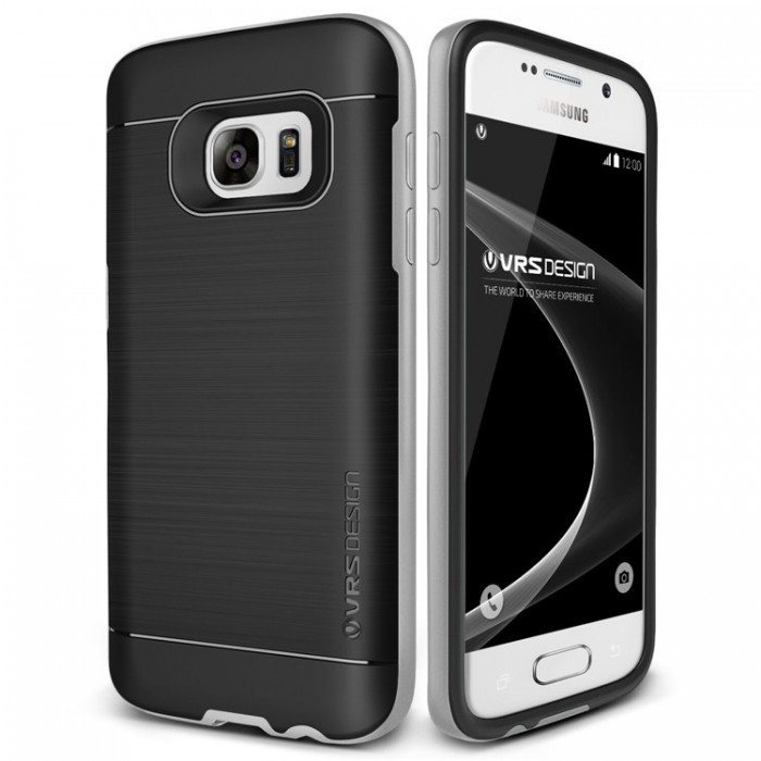 VRS Design High Pro Shield Case for Samsung Galaxy S7 - Light Silver