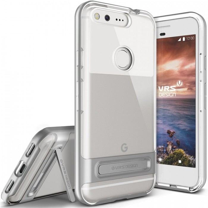 VRS Design Crystal Bumber Case for Google Pixel - Light Silver