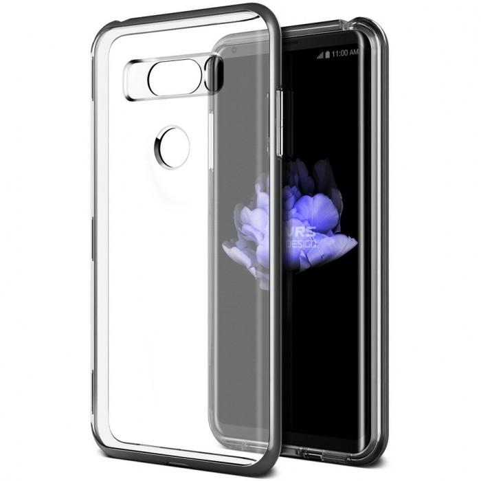 VRS Design Crystal Bumber Case for LG V30 - Silver