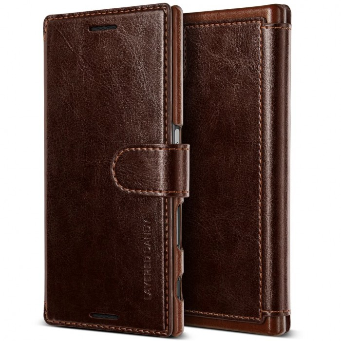 VRS Design Dandy Layered Case for Sony Xperia XZs - Brown