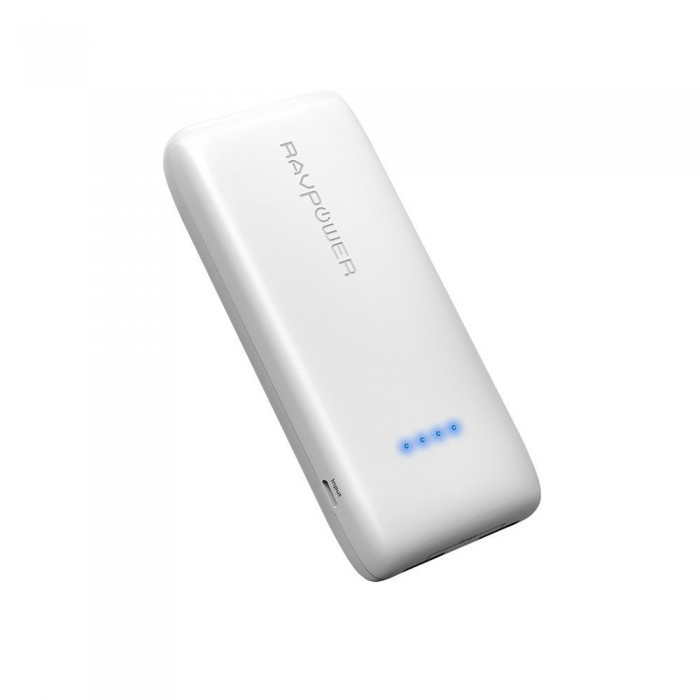 RAVPower Portable Charger 12000 mAh - White
