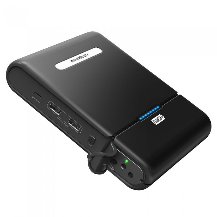 RAVPower 27000 mAh Powerstation - 220V AC Outlet 100W (max)