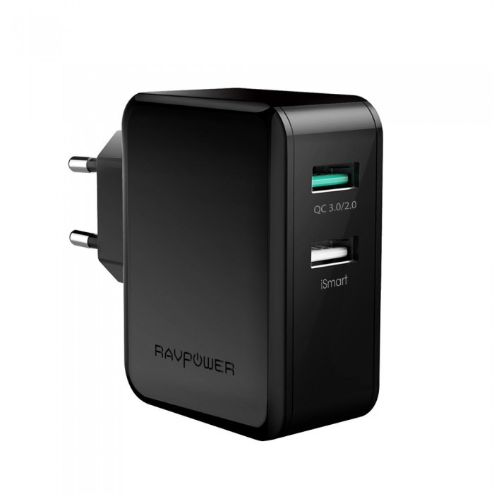 Dual USB Charger RAVPower - 30W with QC 3.0