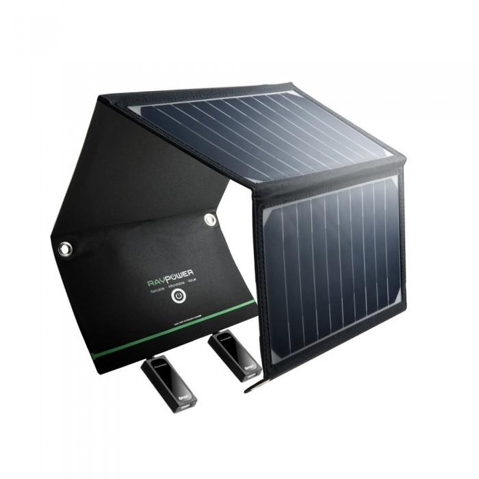 RAVPower 16W Solar Charger - 2 USB Port