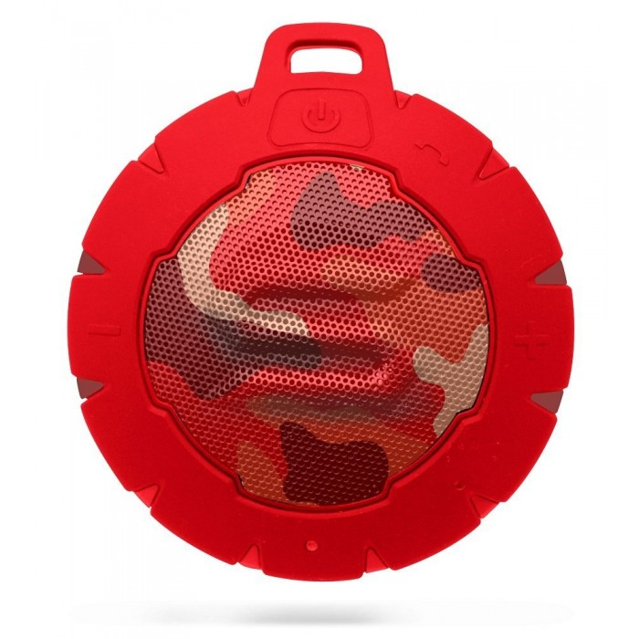Storm Soul Waterproof Bluetooth Speaker - Camo Red