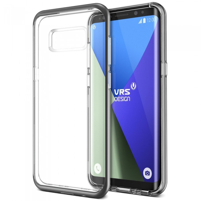 VRS Design Crystal Bumber Case for Samsung Galaxy S8 Plus - Dark Silver