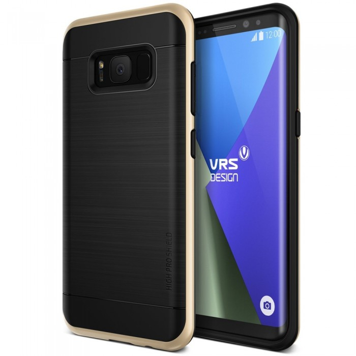 VRS Design High Pro Shield Case for Samsung Galaxy S8 Plus - Shine Gold