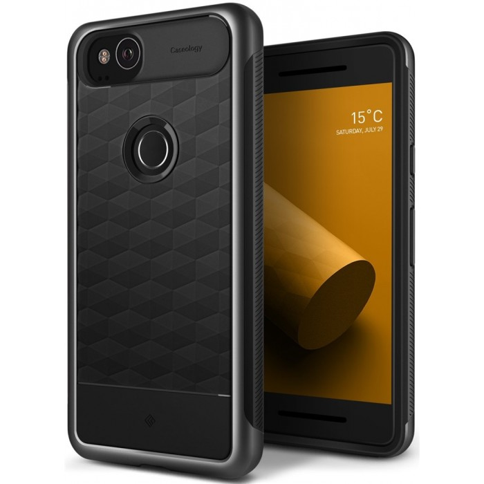 Caseology Parallax Case for Google Pixel 2 - Charcoal Gray
