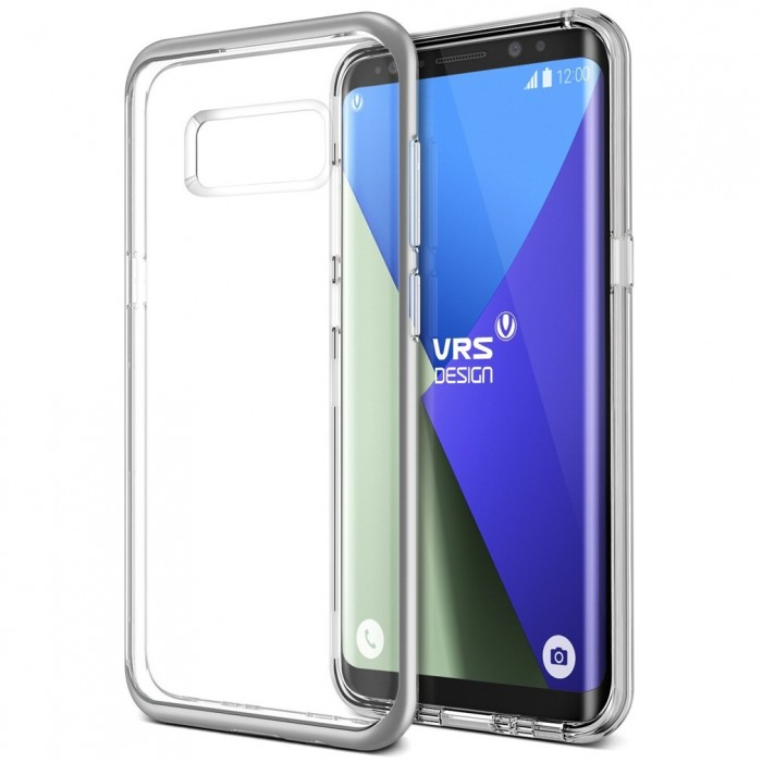 VRS Design Crystal Bumber Case for Samsung Galaxy S8 Plus - Light Silver