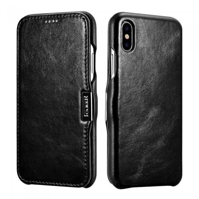 iCarer Vintage Case for iPhone X - Black