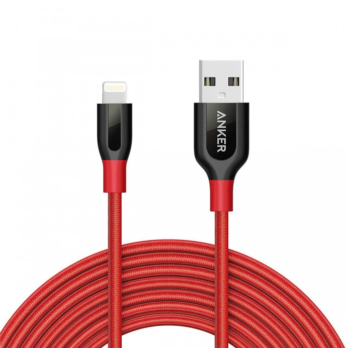Anker PowerLine+ Lightning Cable 3m - Red