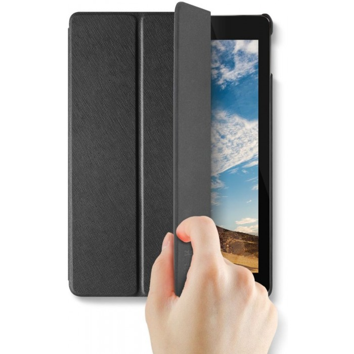 VRS Design Saffiano K1 leather case for Apple iPad Pro 10.5 - Black