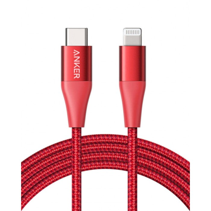 Anker PowerLine+ II USB-C to Lightning Cable 1.8m - Red