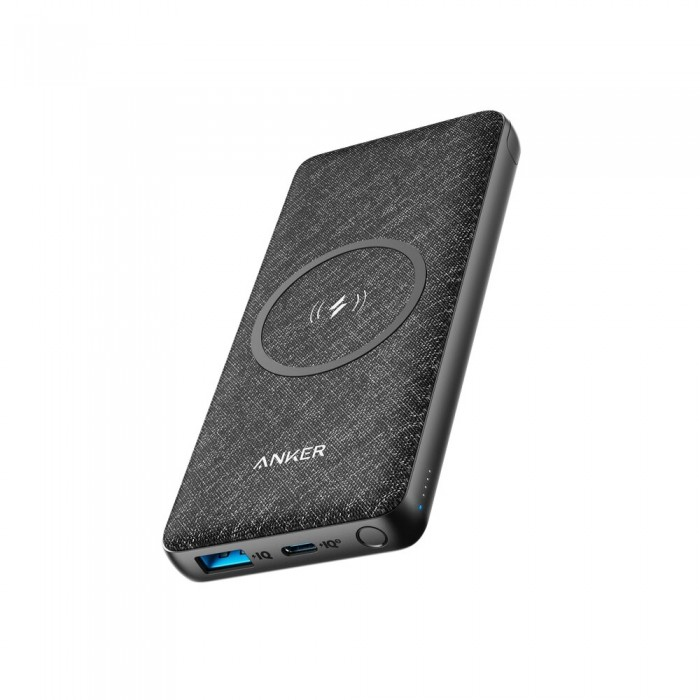 Anker PοwerCore Wireless III Sense PowerBank 10.000mAh - Black
