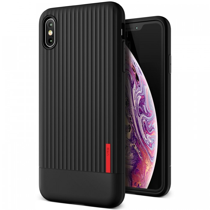 VRS Design Single Fit Case for iPhone Xs Max - Black