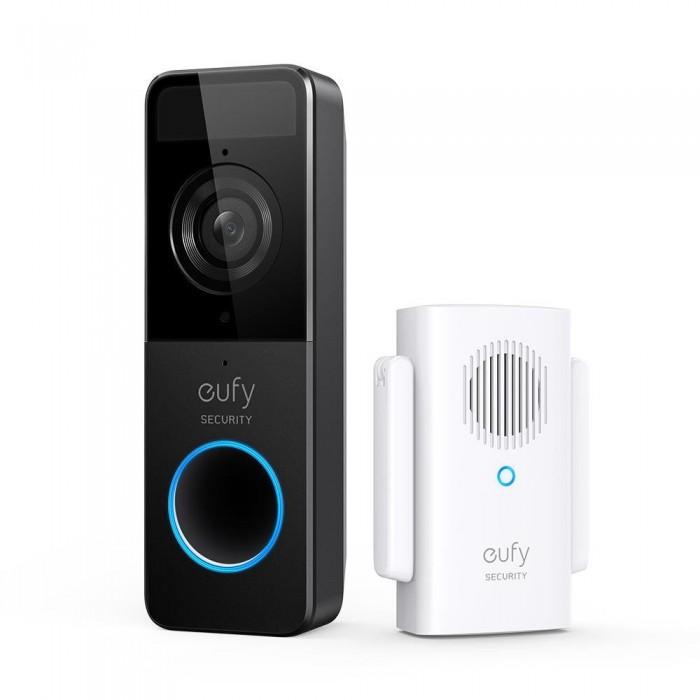 Anker Eufy Video Doorbell Set με Chime, Wireless Smart Θυροτηλεόραση με Κουδούνι, Human detection 2-Way Audio & App