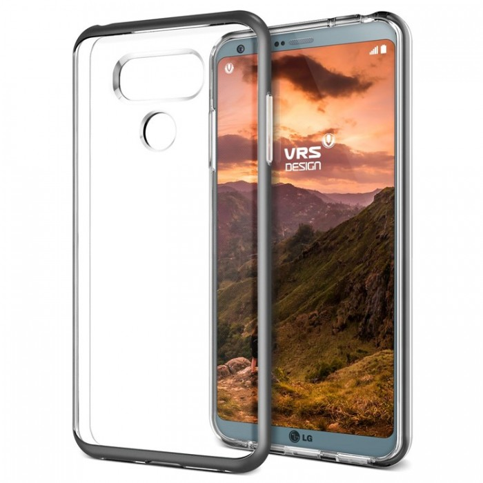 VRS Design Crystal Bumber Case for LG G6 - Dark Silver