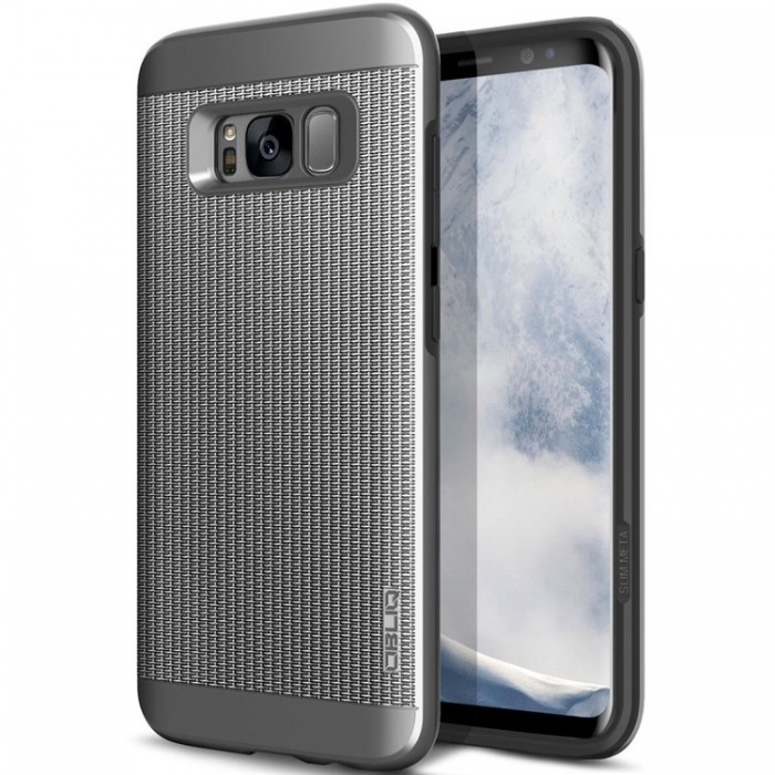 Obliq Slim Meta Case for Samsung Galaxy S8 - Titanium Silver