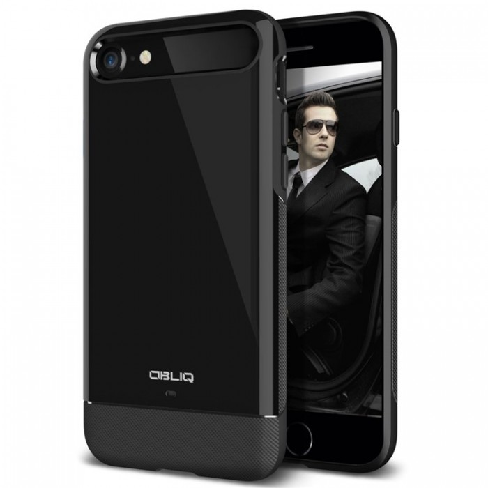 Obliq Dual Meta Case for iPhone 7 - Black
