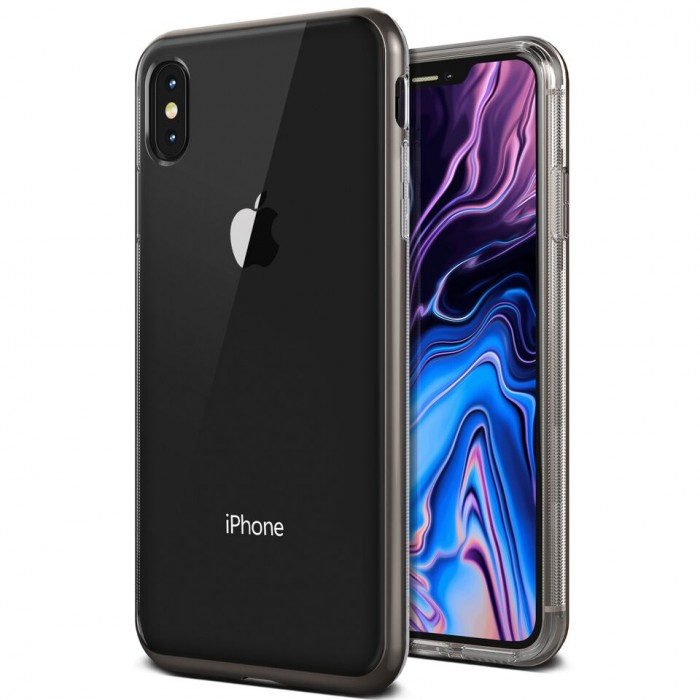 VRS Design Crystal Bumber Case for iPhone Xs Max - Metal Black