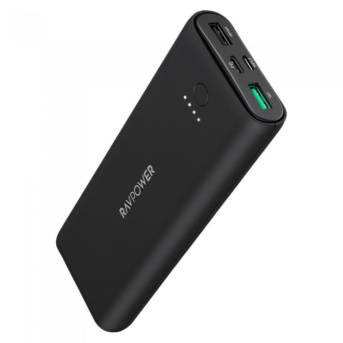 RAVPower Pioneer 20100 mAh QC3.0 & PD 30W - Black