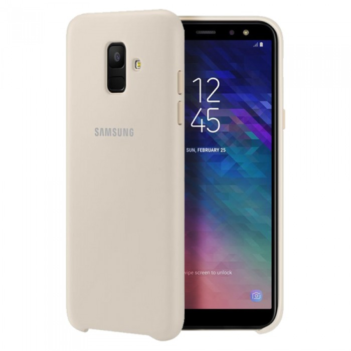 Samsung Dual Layer Cover for Galaxy A6 (2018) - Gold
