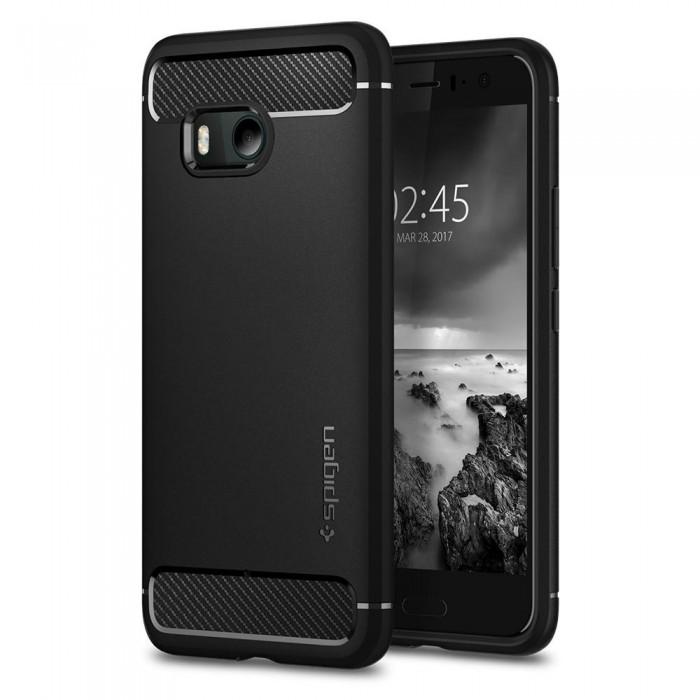 Spigen Rugged Armor Case for HTC 11 - Black