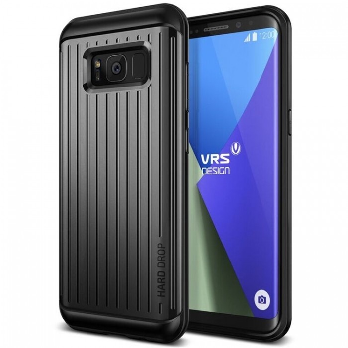 VRS Design Hard Drop Case for Samsung Galaxy S8 Plus - Waved Dark Silver
