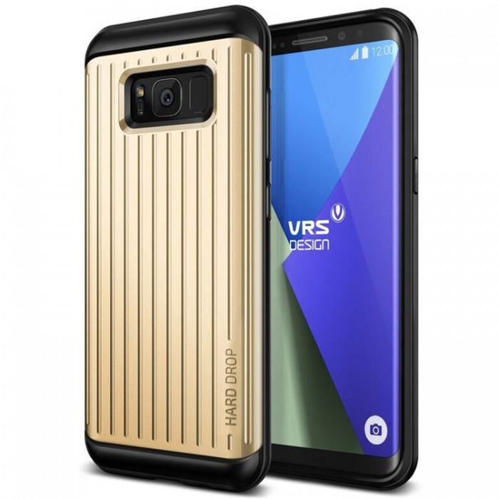VRS Design Hard Drop Case for Samsung Galaxy S8 Plus - Waved Shine Gold