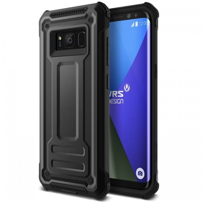 VRS Design Terra Guard Case for Samsung Galaxy S8 - Dark Silver