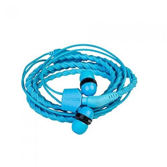 Wraps Wristband Headphones Ακουστικά Hands Free Talk - Blue