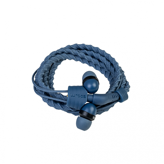 Wraps Wristband Headphones Ακουστικά Hands Free Talk - Denim Blue