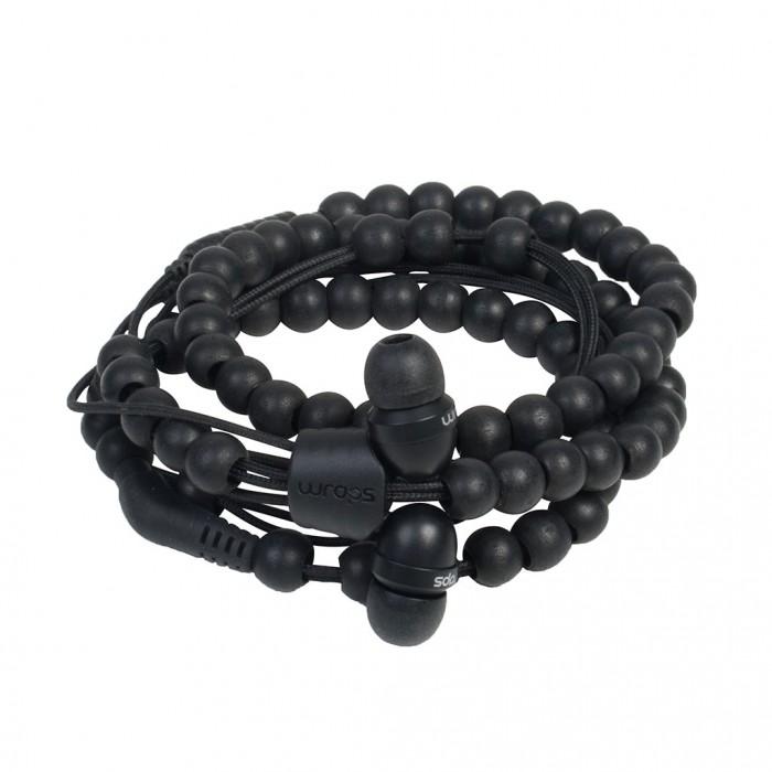 Wraps Wristband Headphones Ακουστικά Hands Free - Natural Wood Black