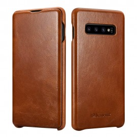 iCarer Vintage Case for Samsung Galaxy S10 - Brown