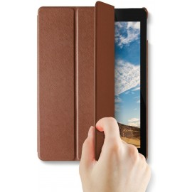 VRS Design Saffiano K1 leather case for Apple iPad Pro 10.5 - Dark Brown