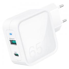 RAVPower Pioneer 2-port 65W USB-A & USB-C - White