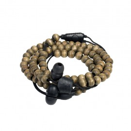 Wraps Wristband Headphones Ακουστικά Hands Free - Natural Wood Brown