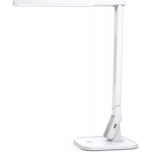 TaoTronics LED Desk Lamp TT-DL02 with USB Charging Port & Touch Control - White 14W