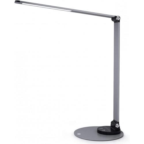 TaoTronics TT-DL066 LED Desk with Touch Control & USB - Aluminium Black